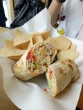 Μεξικάνικα τρόφιμα Burrito Στοκ Φωτογραφία