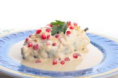 Μεξικάνικα τρόφιμα nogada Chiles EN στοκ φωτογραφία με δικαίωμα ελεύθερης χρήσης
