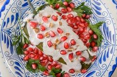 Μεξικάνικα τρόφιμα nogada Chiles EN στοκ εικόνα