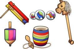 Μεξικάνικα χαρακτηριστικά παιχνίδια κινούμενων σχεδίων ελεύθερη απεικόνιση δικαιώματος