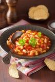 Μεξικάνικα χορτοφάγα τσίλι στο πιάτο στοκ εικόνες με δικαίωμα ελεύθερης χρήσης