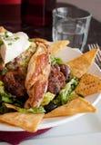 Μεξικάνικα nachos με το ψημένο στη σχάρα κοτόπουλο Στοκ φωτογραφία με δικαίωμα ελεύθερης χρήσης