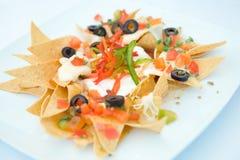 μεξικάνικα nachos ορεκτικών Στοκ εικόνα με δικαίωμα ελεύθερης χρήσης