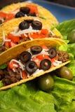 μεξικάνικα tacos Στοκ εικόνα με δικαίωμα ελεύθερης χρήσης