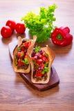 Μεξικάνικα tacos tortilla στα κοχύλια Στοκ Εικόνες
