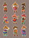 μεξικάνικες αυτοκόλλητες ετικέττες ανθρώπων Στοκ φωτογραφία με δικαίωμα ελεύθερης χρήσης