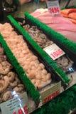 Μεξικάνικες γαρίδες, όστρακα, γαρίδες, grouper για την πώληση Στοκ εικόνες με δικαίωμα ελεύθερης χρήσης