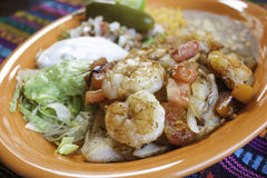 Μεξικάνικες γαρίδες στοκ εικόνα
