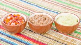 Μεξικάνικες εμβυθίσεις & δευτερεύοντα πιάτα Στοκ εικόνες με δικαίωμα ελεύθερης χρήσης