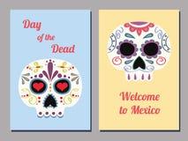 Μεξικάνικες κάρτες κρανίων Στοκ Εικόνες