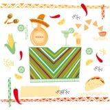 Μεξικάνικη κουζίνα Στοκ εικόνες με δικαίωμα ελεύθερης χρήσης
