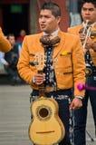 Μεξικάνικη μουσική παιχνιδιού ζωνών Mariachi Στοκ φωτογραφία με δικαίωμα ελεύθερης χρήσης