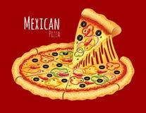 μεξικάνικη πίτσα Στοκ φωτογραφία με δικαίωμα ελεύθερης χρήσης