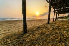 Μεξικάνικη παραλία Palapa Στοκ εικόνα με δικαίωμα ελεύθερης χρήσης
