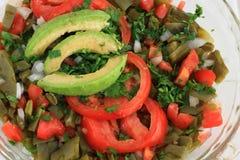 Μεξικάνικη σαλάτα κάκτων Nopal Στοκ εικόνα με δικαίωμα ελεύθερης χρήσης