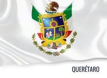 Μεξικάνικη σημαία κρατικού Queretaro Στοκ εικόνα με δικαίωμα ελεύθερης χρήσης