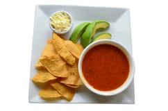 Μεξικάνικη σούπα ντοματών αποκαλούμενη τη σούπα Azteca ή tortilla σούπα Στοκ φωτογραφία με δικαίωμα ελεύθερης χρήσης