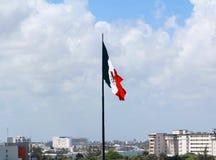 Μεξικάνικη υπερηφάνεια στη εθνική σημαία στοκ φωτογραφίες