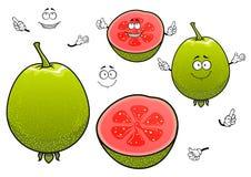 Μεξικάνικοι τροπικοί χαρακτήρες φρούτων γκοϋαβών κινούμενων σχεδίων Στοκ εικόνα με δικαίωμα ελεύθερης χρήσης