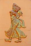 Μεξικάνικοι χορευτές Γλυπτό τοίχων Ινδία Στοκ Εικόνες