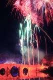Μεξικάνικος εορτασμός γιορτής με τα πυροτεχνήματα Στοκ φωτογραφίες με δικαίωμα ελεύθερης χρήσης