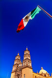 Μεξικάνικος καθεδρικός ναός Dolores Hidalalgo Μεξικό Parroquia σημαιών Στοκ Φωτογραφία