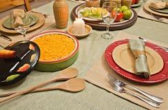 μεξικάνικος καθορισμένος πίνακας τροφίμων γευμάτων Στοκ Εικόνα