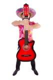 Μεξικάνικος κιθαρίστας Στοκ εικόνα με δικαίωμα ελεύθερης χρήσης