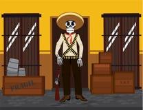 Μεξικάνικος σκελετός διανυσματική απεικόνιση