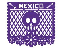Μεξικάνικο έγγραφο διακοσμήσεων απεικόνιση αποθεμάτων