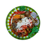 Μεξικάνικο δίχτυ πιάτων του βόειου κρέατος Στοκ Φωτογραφία