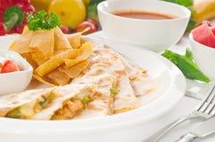 μεξικάνικο αρχικό quesadilla pollo de Στοκ εικόνες με δικαίωμα ελεύθερης χρήσης