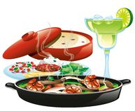 Μεξικάνικο γεύμα fajita Στοκ φωτογραφία με δικαίωμα ελεύθερης χρήσης