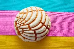 Μεξικάνικο γλυκό ψωμί Conchas παραδοσιακό Στοκ Εικόνες