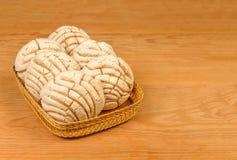 Μεξικάνικο γλυκό ψωμί Conchas Στοκ Εικόνες