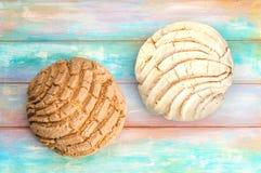 Μεξικάνικο γλυκό ψωμί Conchas Στοκ εικόνα με δικαίωμα ελεύθερης χρήσης