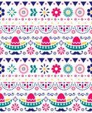 Μεξικάνικο καπέλο - σομπρέρο και μακροχρόνιο άνευ ραφής διανυσματικό floral σχέδιο mustache - κλωστοϋφαντουργικό προϊόν, σχέδιο τ ελεύθερη απεικόνιση δικαιώματος