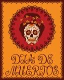 Μεξικάνικο κρανίο ζάχαρης Στοκ εικόνα με δικαίωμα ελεύθερης χρήσης