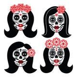 Μεξικάνικο Λα Catrina - ημέρα του νεκρού κρανίου κοριτσιών ελεύθερη απεικόνιση δικαιώματος