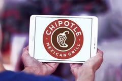 Μεξικάνικο λογότυπο γρήγορου φαγητού σχαρών Chipotle Στοκ Φωτογραφία