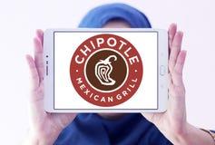 Μεξικάνικο λογότυπο γρήγορου φαγητού σχαρών Chipotle Στοκ φωτογραφία με δικαίωμα ελεύθερης χρήσης