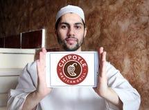 Μεξικάνικο λογότυπο γρήγορου φαγητού σχαρών Chipotle Στοκ εικόνα με δικαίωμα ελεύθερης χρήσης