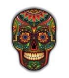 Μεξικάνικο παραδοσιακό scull τυπωμένων υλών για την μπλούζα Στοκ φωτογραφία με δικαίωμα ελεύθερης χρήσης