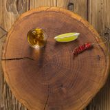 Μεξικάνικο ποτό Mezcal με τις πορτοκαλιές φέτες και στο oaxaca Μεξικό Στοκ φωτογραφία με δικαίωμα ελεύθερης χρήσης