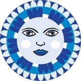 Μεξικάνικο πρόσωπο φεγγαριών απεικόνιση αποθεμάτων