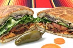 Μεξικάνικο σάντουιτς Στοκ Φωτογραφία