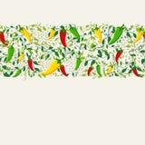 Μεξικάνικο σχέδιο σχεδίων πιπεριών τσίλι Στοκ Φωτογραφία