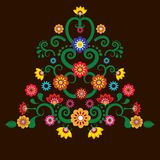 Μεξικάνικο υπόβαθρο απεικόνισης λουλουδιών Απεικόνιση αποθεμάτων
