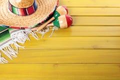 Μεξικάνικο υπόβαθρο με το copyspace Στοκ εικόνα με δικαίωμα ελεύθερης χρήσης