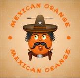 Μεξικάνικο φυσικό δροσερό πορτοκάλι Διανυσματική απεικόνιση
